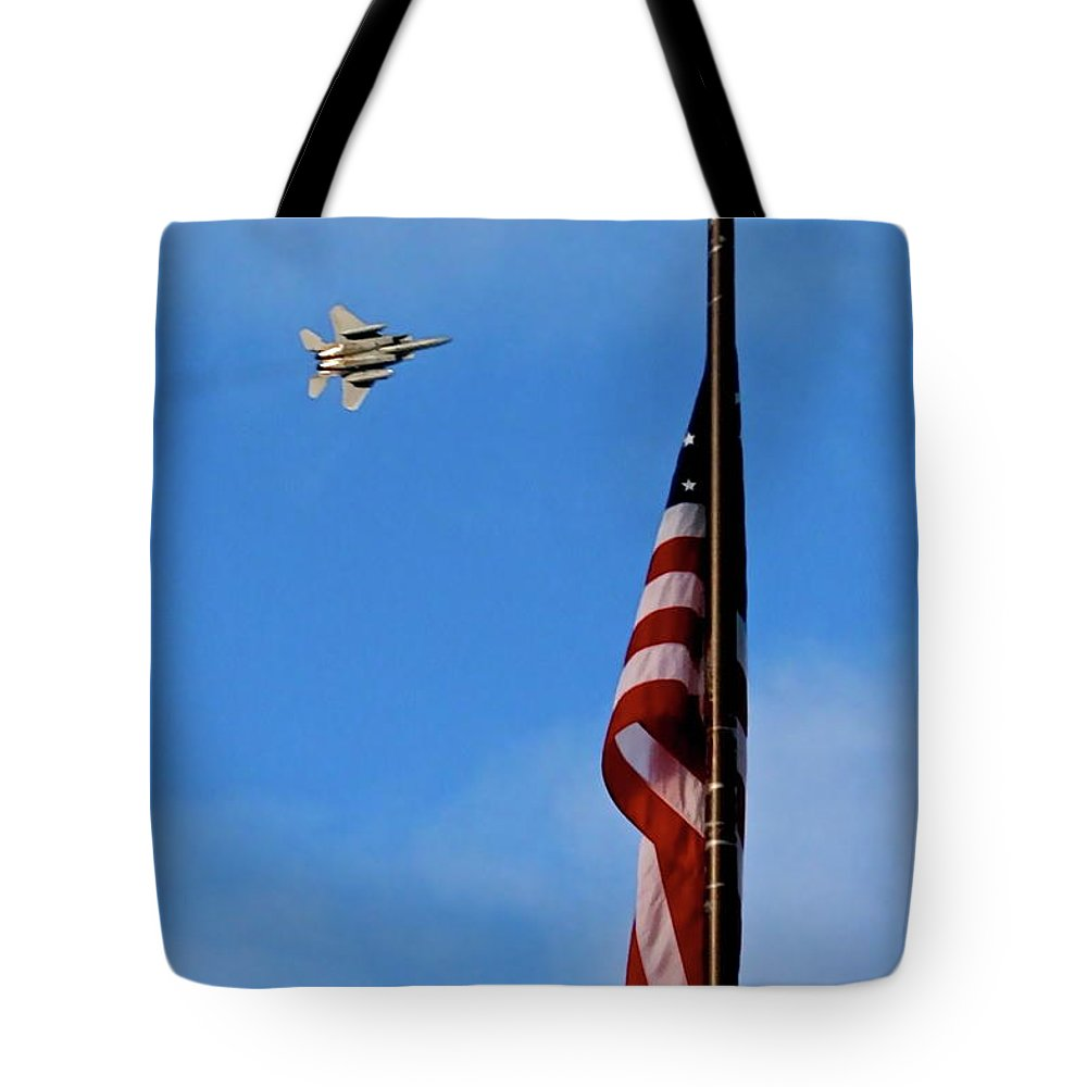 Flag Tote Bag featuring the photograph Power by Rick Monyahan