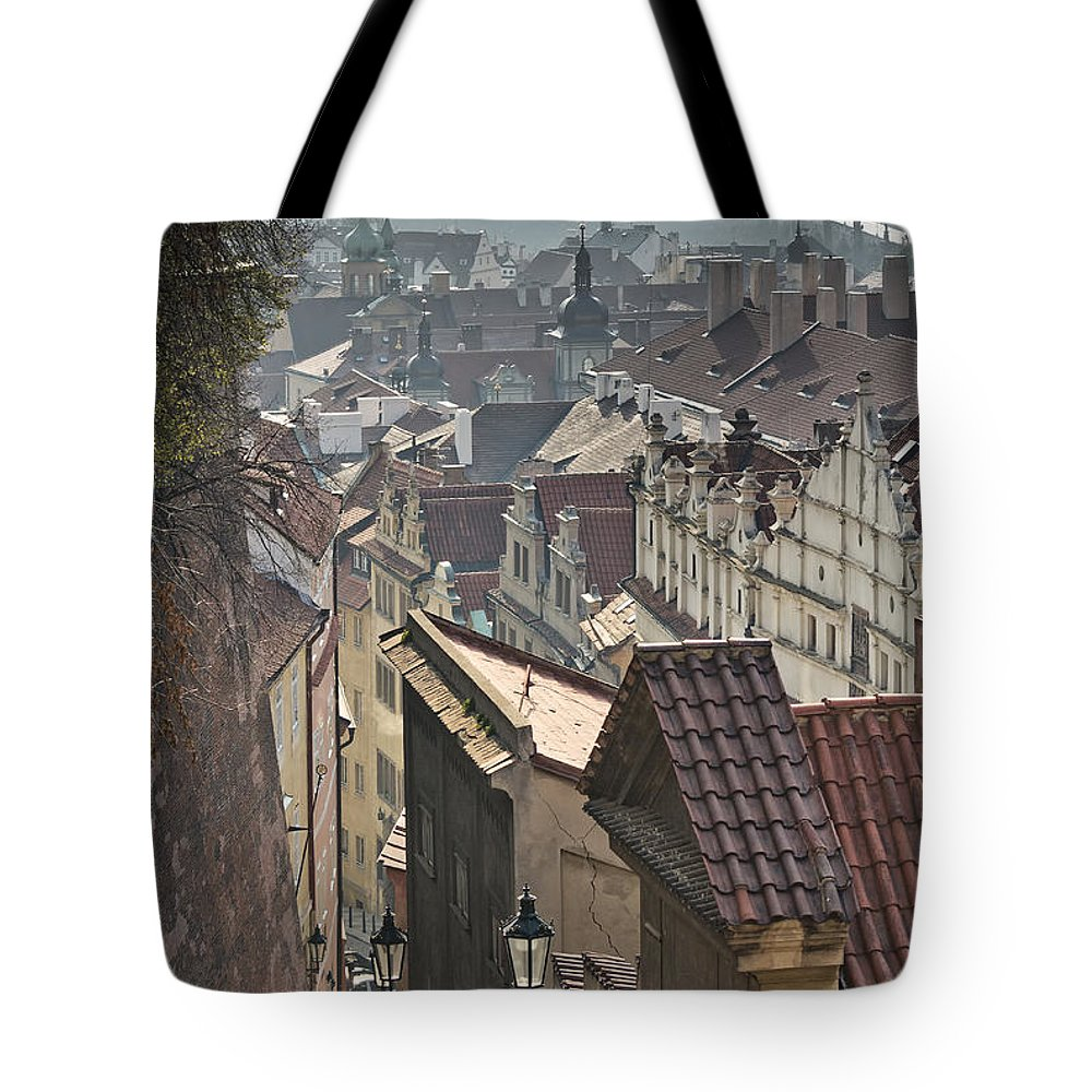 Landmark Tote Bag featuring the photograph Prague by Jaroslav Frank