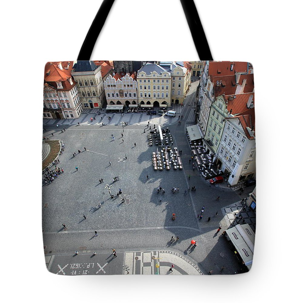 Tranquility Tote Bag featuring the photograph Prague Old Town Square by J.castro