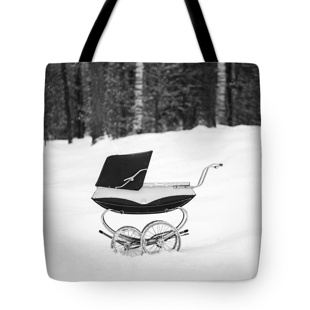 Etna Tote Bag featuring the photograph Pram in the Snow by Edward Fielding