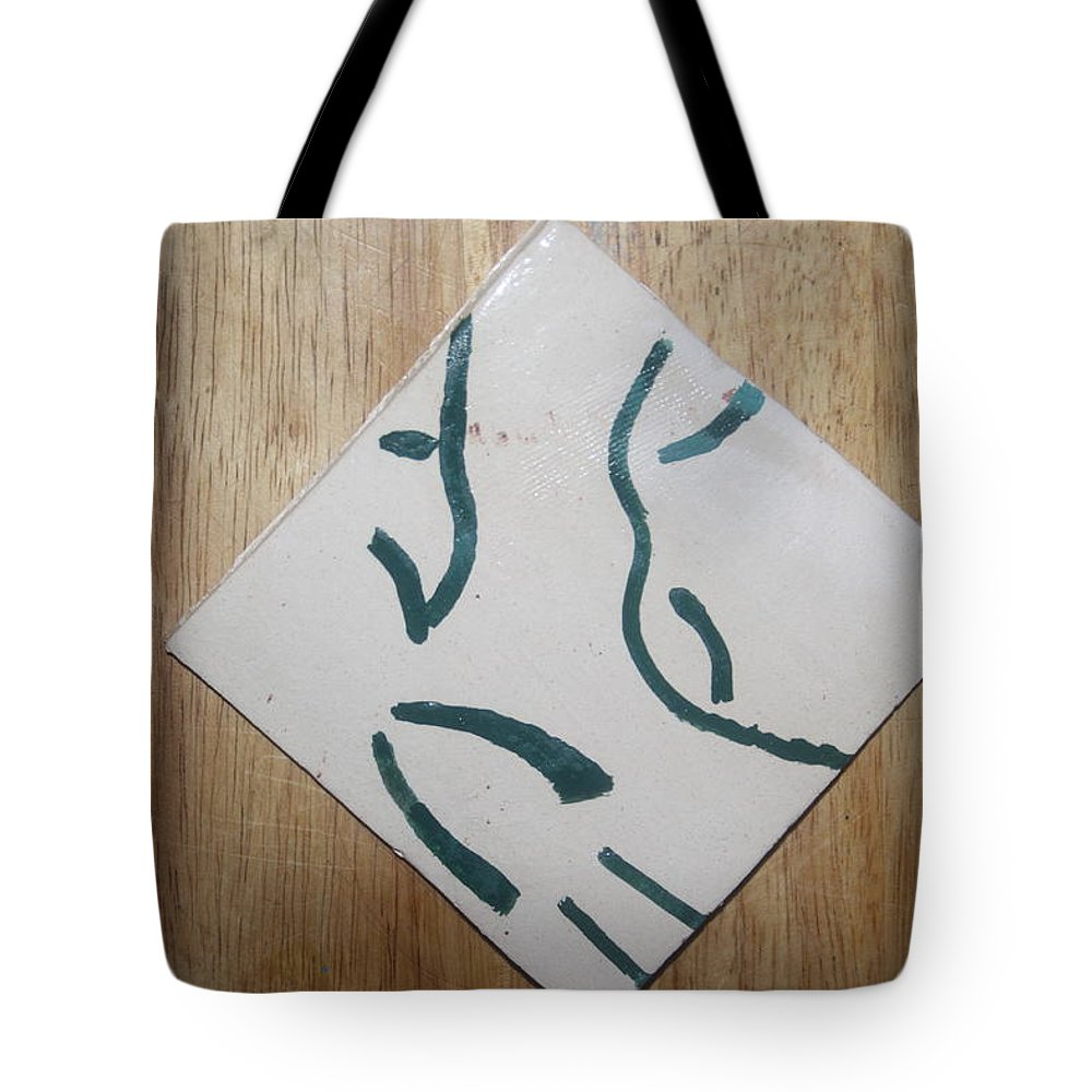 Jesus Tote Bag featuring the ceramic art Prayer - Tile by Gloria Ssali