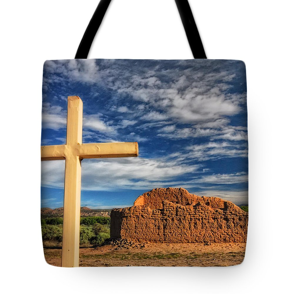 Abandoned Tote Bag featuring the photograph Prayers In The Desert by Ghostwinds Photography