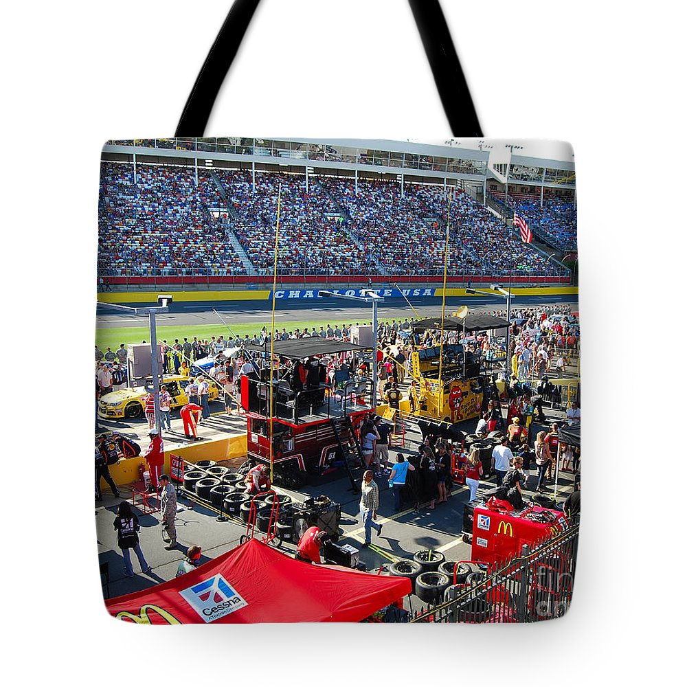 Nascar Tote Bag featuring the photograph Pre-race Festivities by Mark Spearman
