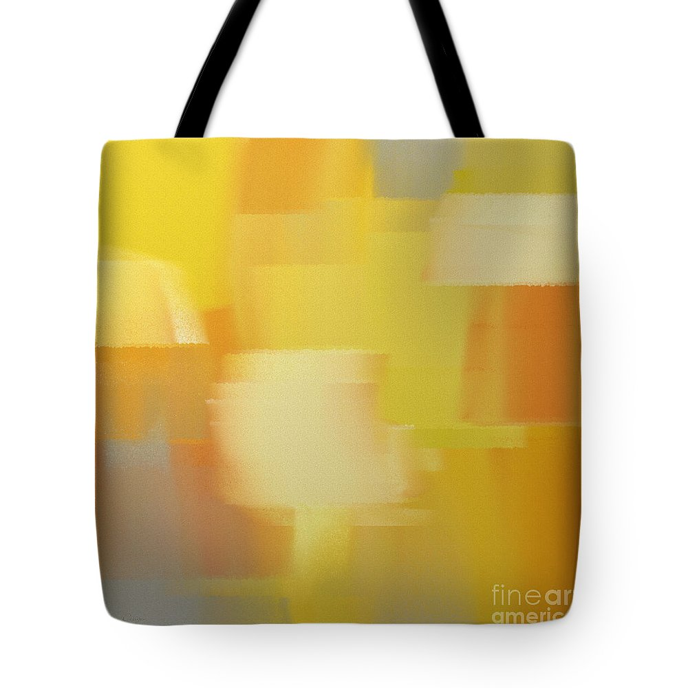 Andee Design Abstract Tote Bag featuring the digital art Precious Metals Abstract 4 by Andee Design