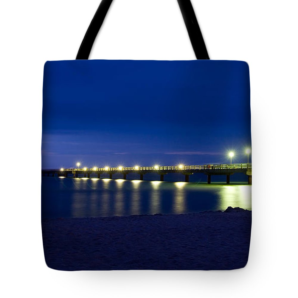Ostsee Tote Bag featuring the pyrography Prerow Baltic Sea by Steffen Gierok