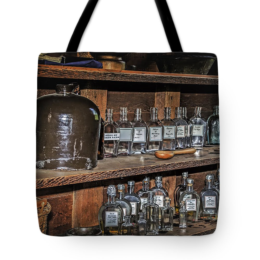Ford Tote Bag featuring the photograph Prescription Drug Bottles by LeeAnn McLaneGoetz McLaneGoetzStudioLLCcom