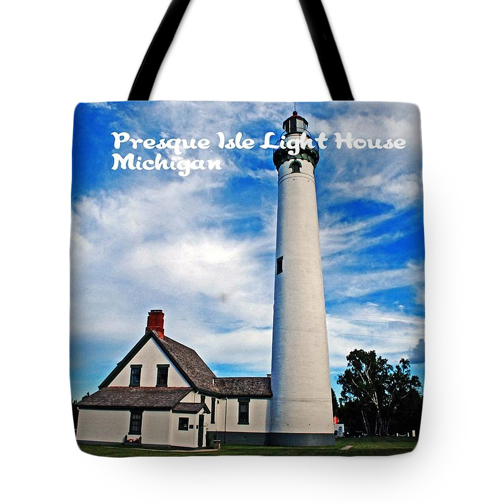 Michigan Tote Bag featuring the photograph Presque Isle by Gary Wonning