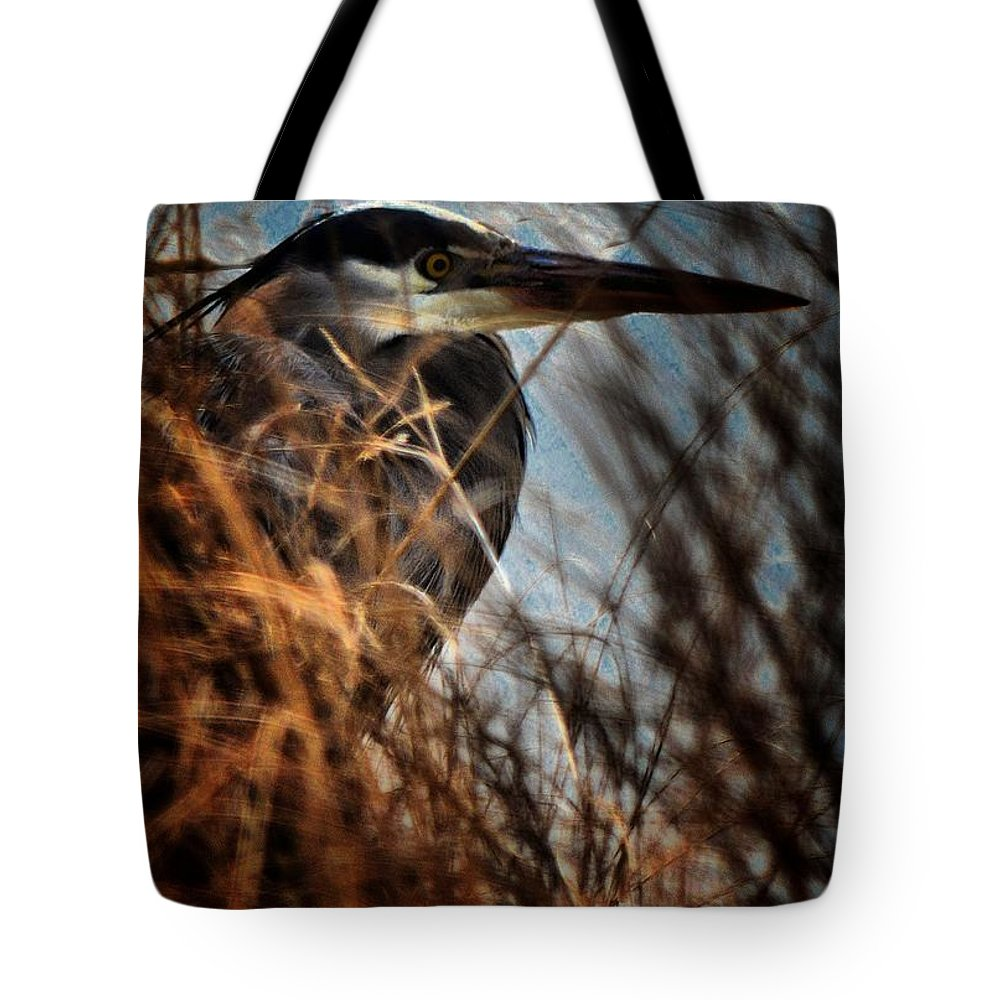 Heron Tote Bag featuring the photograph Pretty Baby by Robert McCubbin