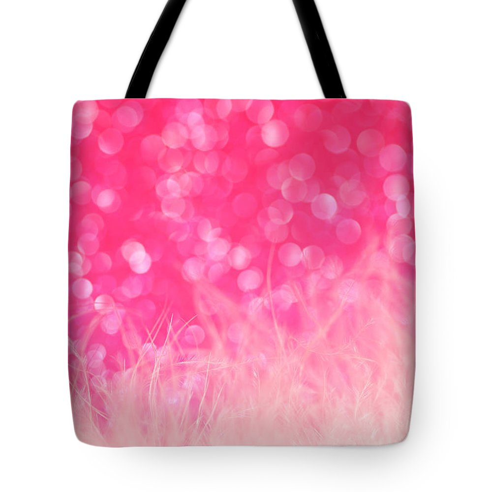 Abstract Tote Bag featuring the photograph Pretty In Pink by Dazzle Zazz