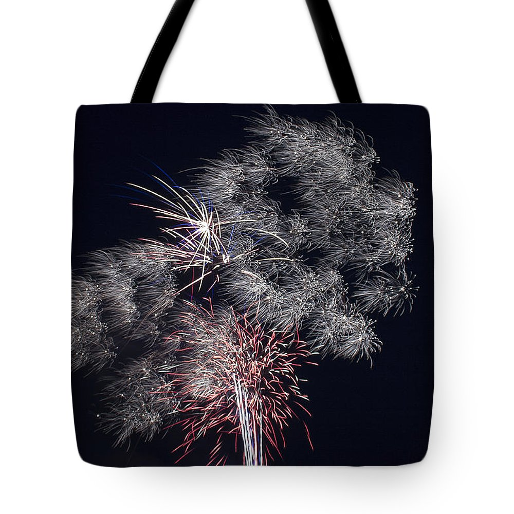 Abstract Tote Bag featuring the photograph Pretty Light by Jack R Perry