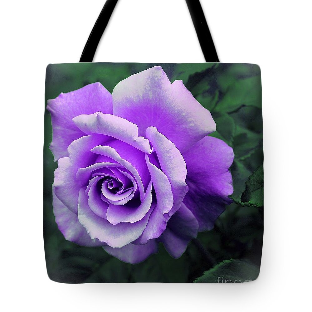 Pretty Lilac Rose Tote Bag featuring the photograph Pretty Lilac Rose by Barbara Griffin