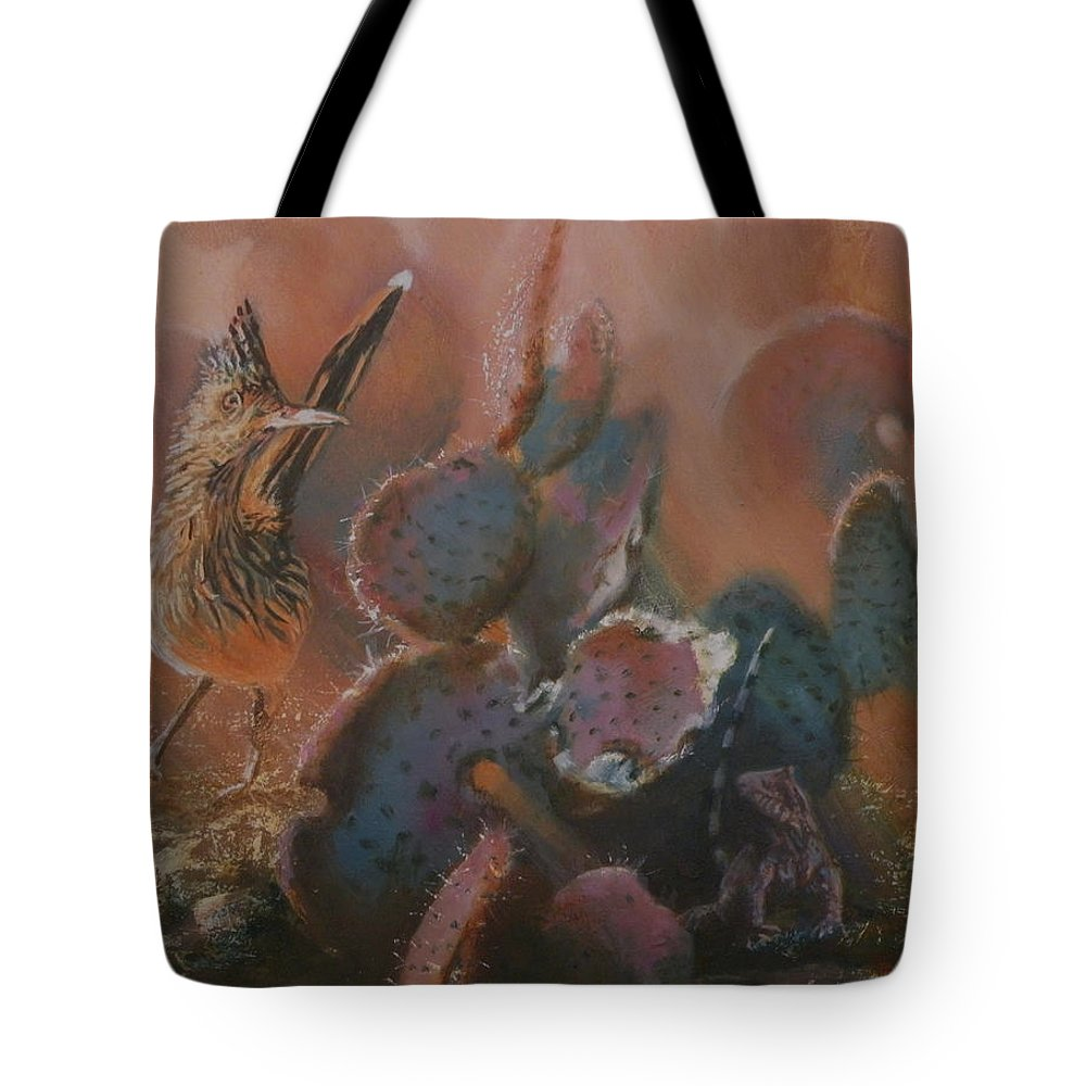 Southwestern Tote Bag featuring the painting Prickly Situation by Mia DeLode