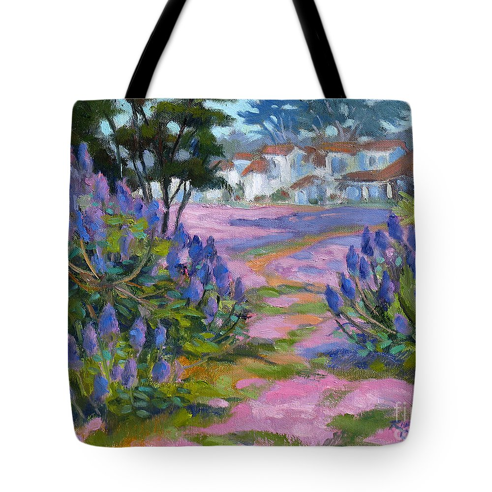 Pacific Grove Tote Bag featuring the painting Pride Of Madeira by Rhett Regina Owings