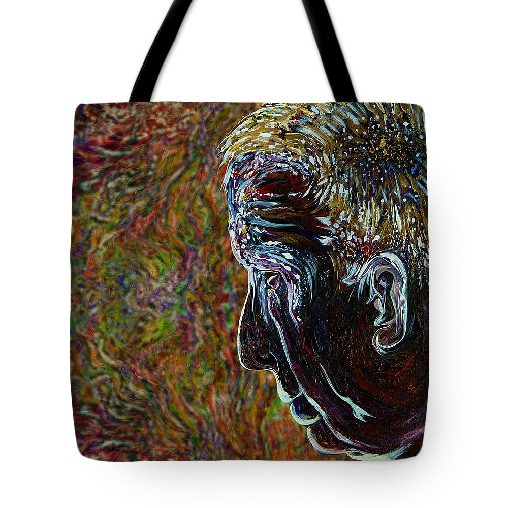 Priest Tote Bag featuring the painting Priest Of Solace by Doug LaRue