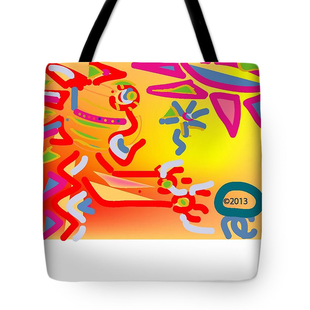 Life's Crazy Tote Bag featuring the digital art Primary Colors by Andy Cordan