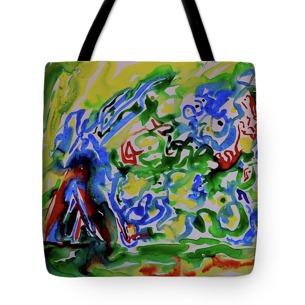 Primary Tote Bag featuring the painting Primary Study II Finding The Way by Beverley Harper Tinsley