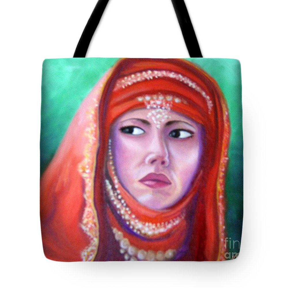 Princess Tote Bag featuring the painting Princess Sibylla by Lora Duguay