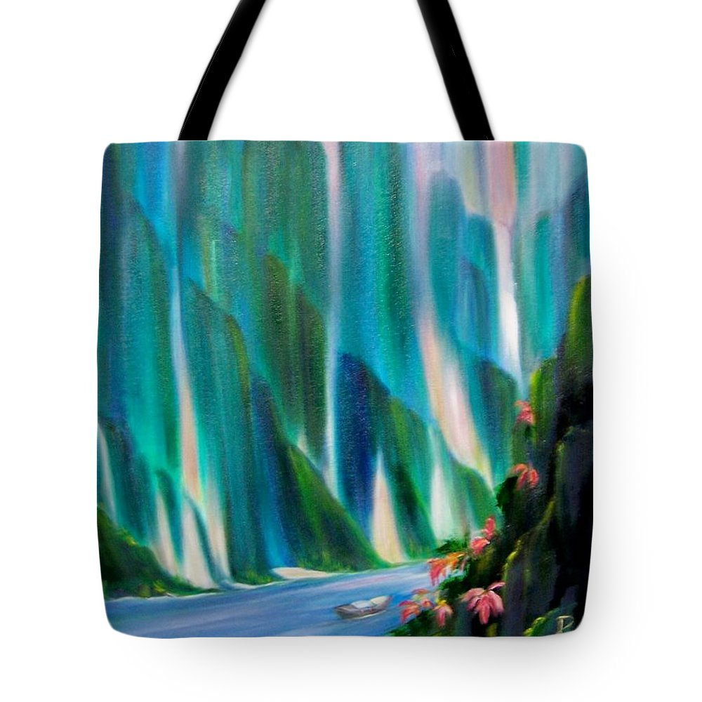 Water Tote Bag featuring the painting Prisms by Dina Holland