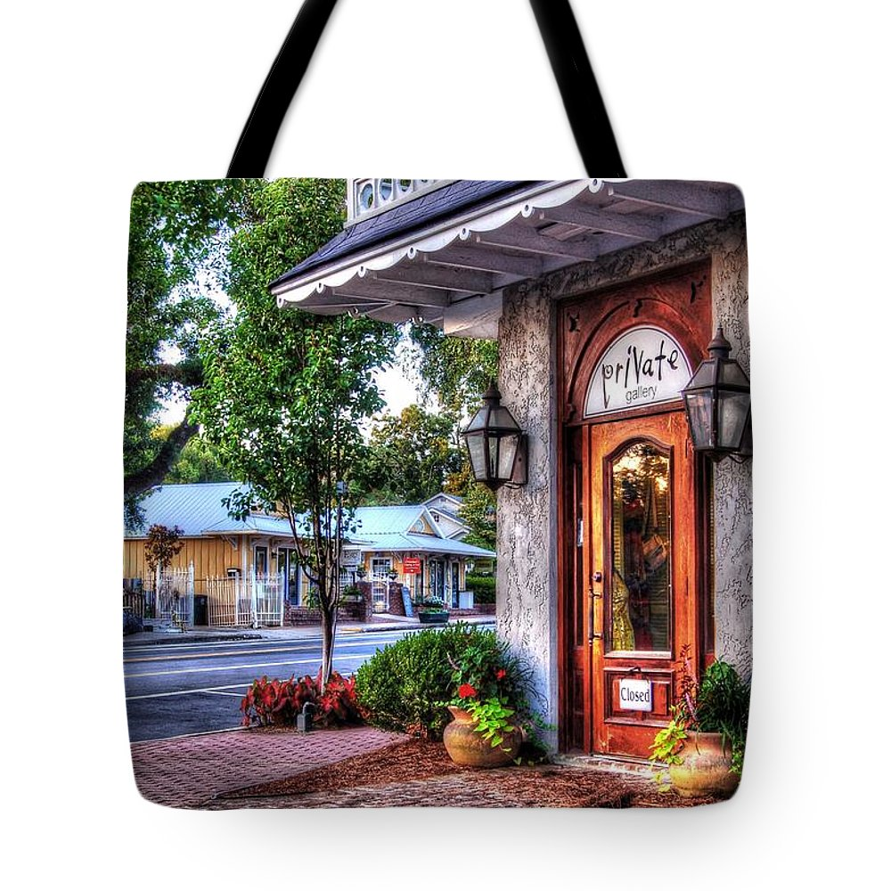 Alabama Tote Bag featuring the digital art Private Gallery by Michael Thomas