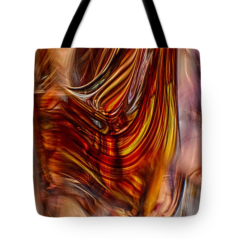 Glass Tote Bag featuring the photograph Profile by Omaste Witkowski