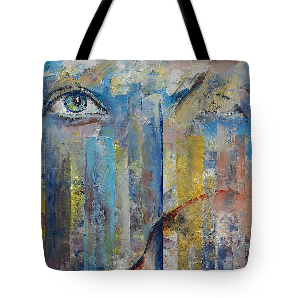 Prophet Tote Bag featuring the painting Prophet by Michael Creese