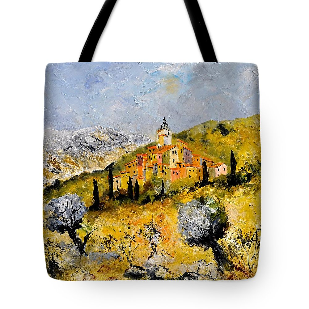 Landscape Tote Bag featuring the painting Provence 78314030 by Pol Ledent