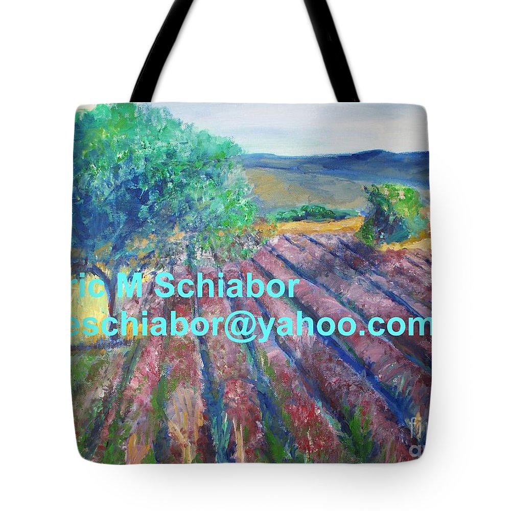 The Actor Tote Bag featuring the painting Provence Lavender Field by Eric Schiabor