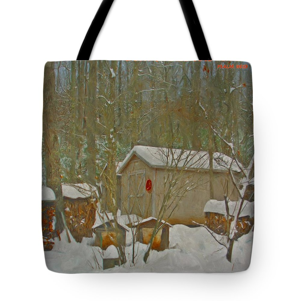 Jesus Tote Bag featuring the digital art Psalm 115 13 by Michelle Greene Wheeler
