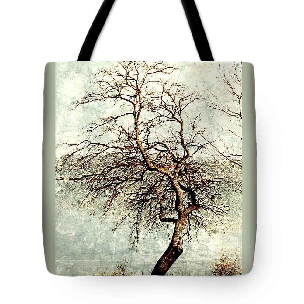 #tree Art Tote Bag featuring the photograph Psalms 24 V 1 by Debbie Nobile