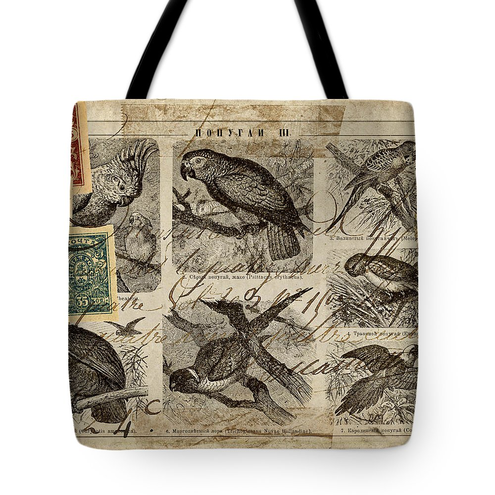 Postcard Tote Bag featuring the photograph Psittacus by Carol Leigh