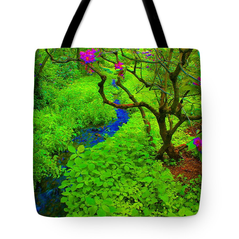 Art Tote Bag featuring the photograph Psychedelic Adventure by Ben Upham III