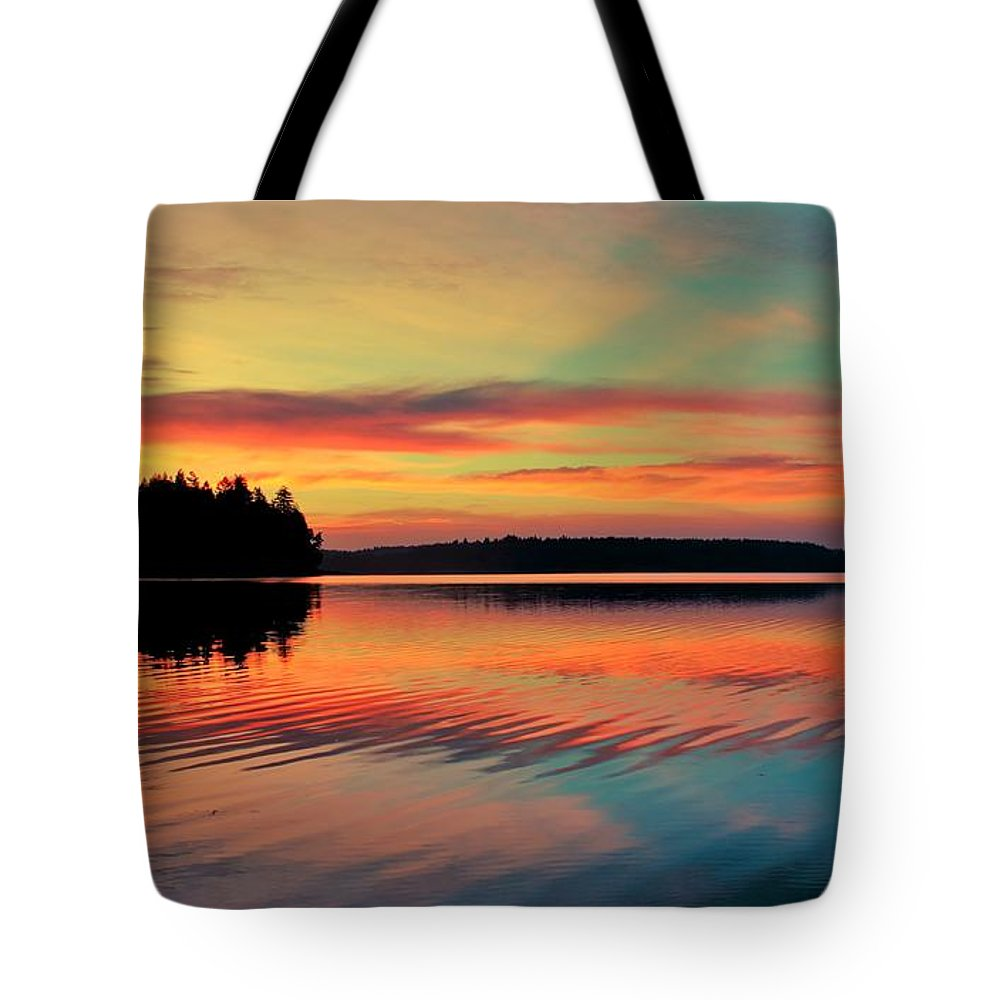 Puget Tote Bag featuring the photograph Puget Palette by Benjamin Yeager