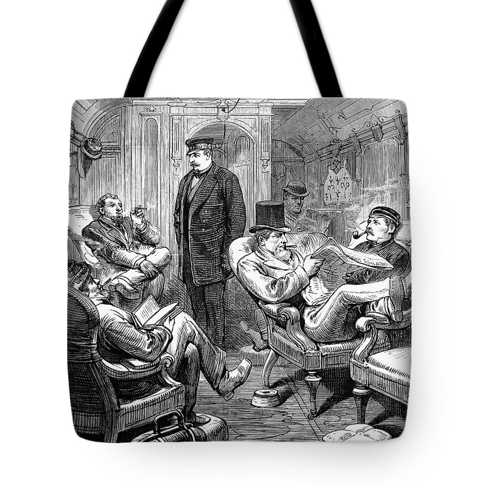 1876 Tote Bag featuring the photograph Pullman Car, 1876 by Granger