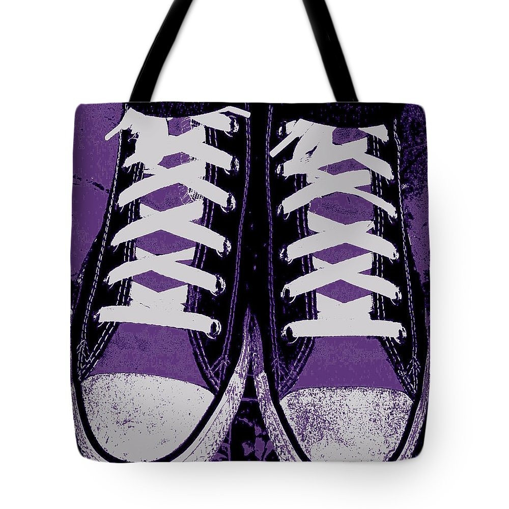 Pumped Up Purple Tote Bag featuring the photograph Pumped Up Purple by Edward Smith