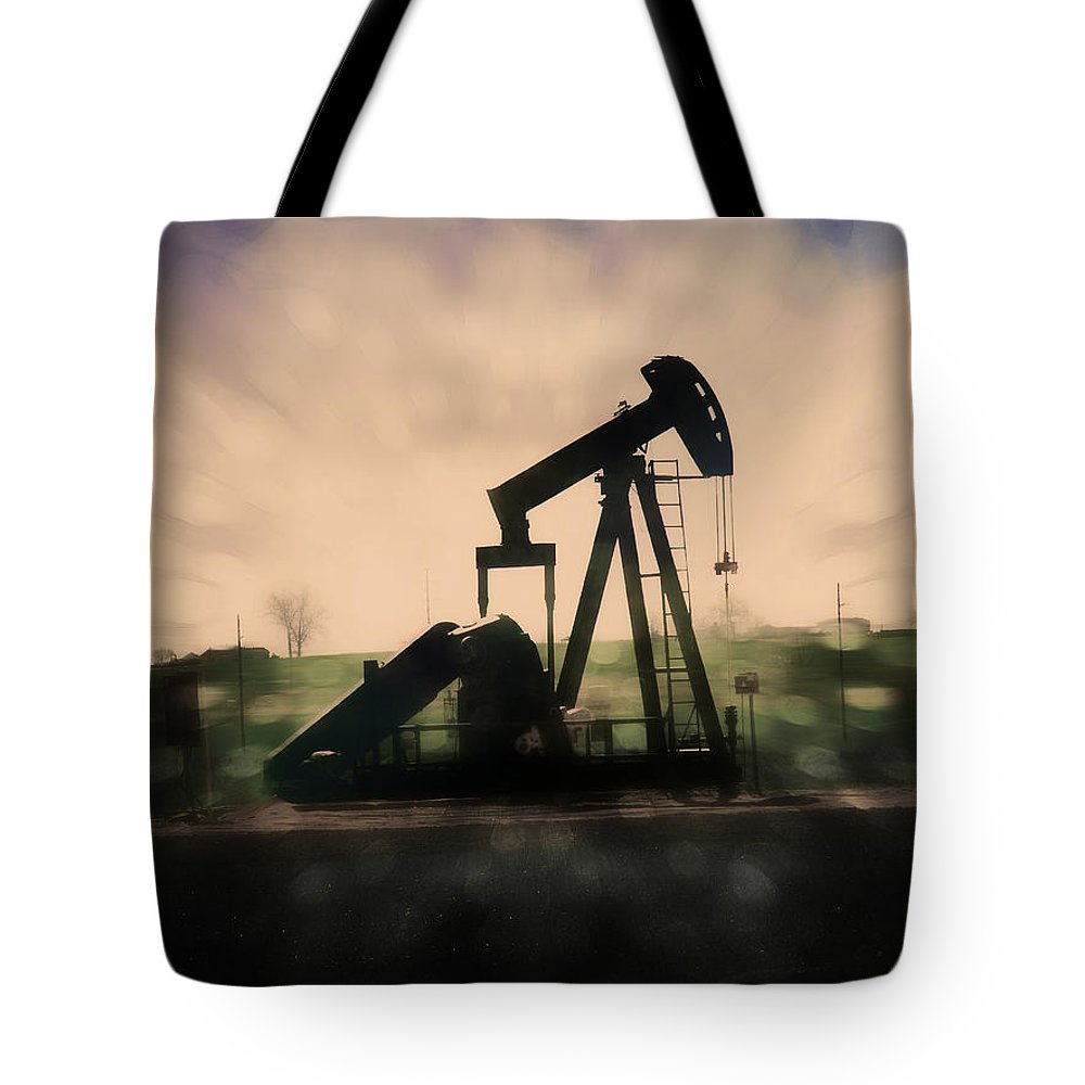 Oil Tote Bag featuring the photograph Pumpin Oil by Adam Vance