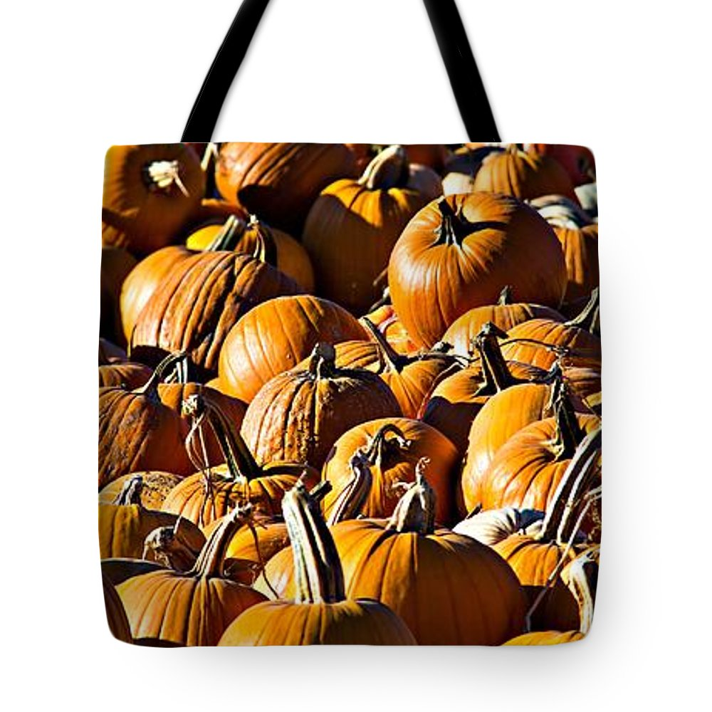 Pumpkins Tote Bag featuring the photograph Pumpkin Patch by Aaron Berg
