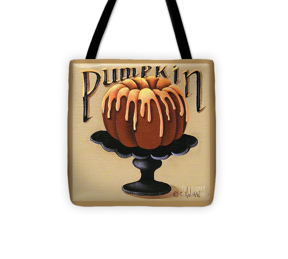 Art Tote Bag featuring the painting Pumpkin Spice Cake by Catherine Holman