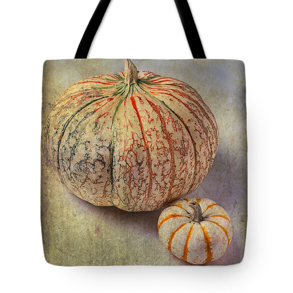 Fruit Tote Bag featuring the photograph Pumpkin Textures by Garry Gay