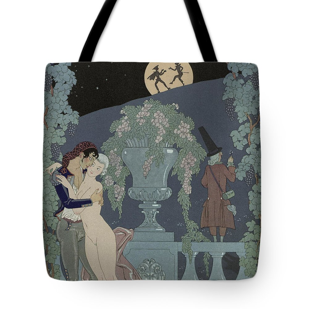 Fantoches Tote Bag featuring the painting Puppets by Georges Barbier