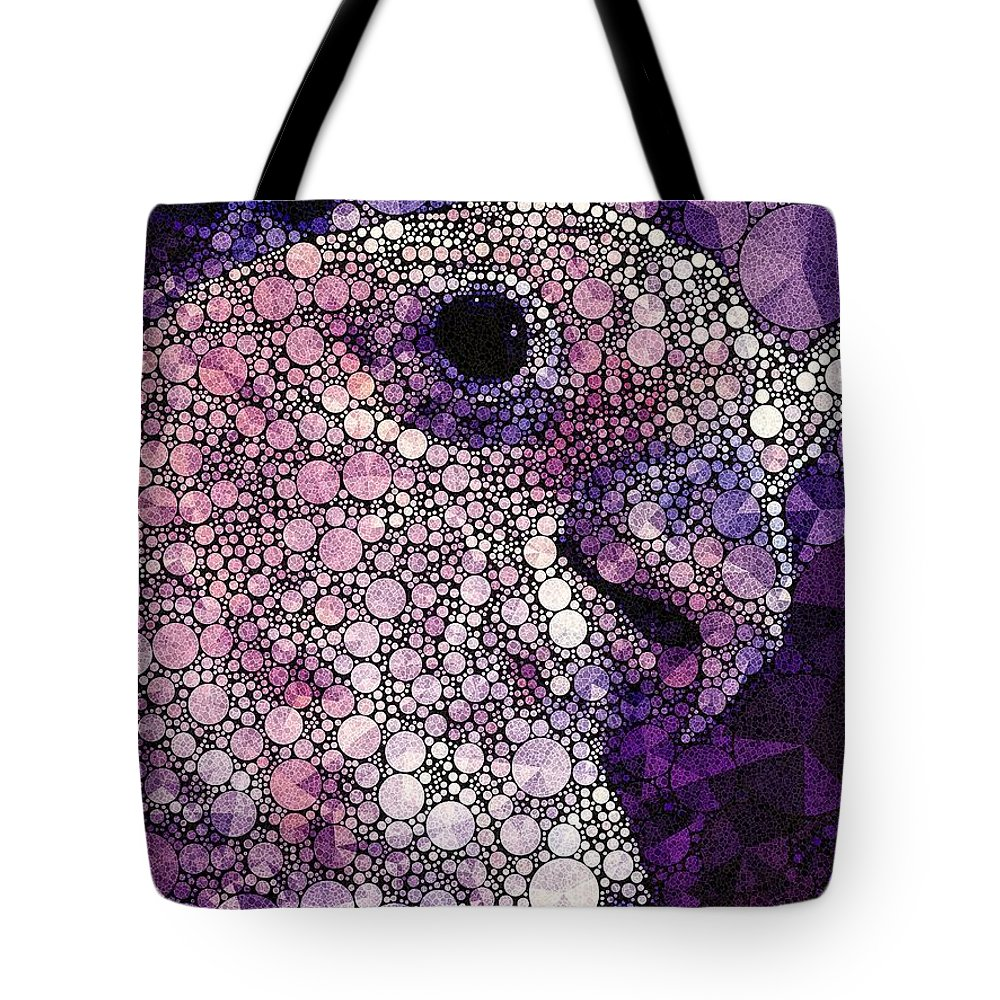 Goffin Cockatoo Tote Bag featuring the photograph Purple Cockatoo by Susan Maxwell Schmidt