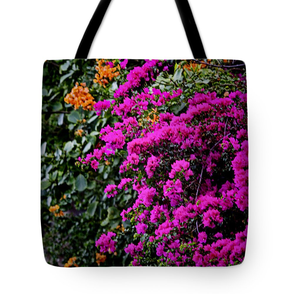 Colors Tote Bag featuring the photograph Purple Contrast by Douglas Barnard