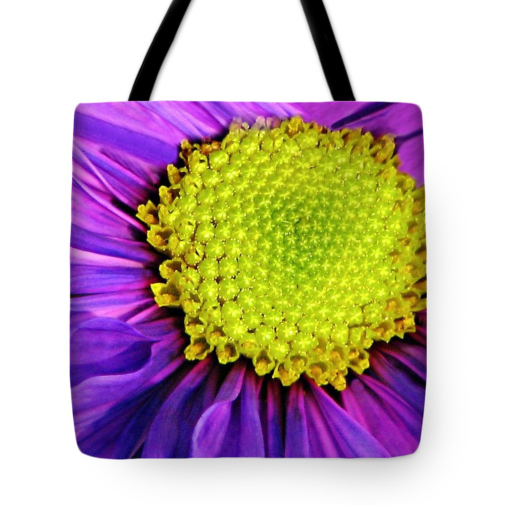 Flower Tote Bag featuring the photograph Purple Fantasy by Diana Angstadt