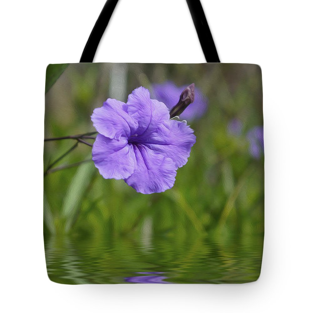Purple Tote Bag featuring the photograph Purple Flower by Aged Pixel