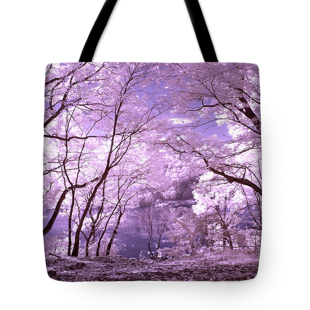 Infrared Tote Bag featuring the photograph Purple Forest by Paul W Faust - Impressions of Light