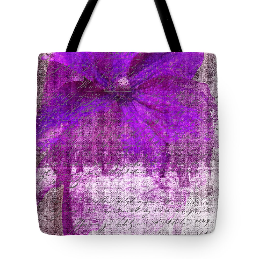 Gillian Tote Bag featuring the photograph Purple Haze by Gillian Singleton