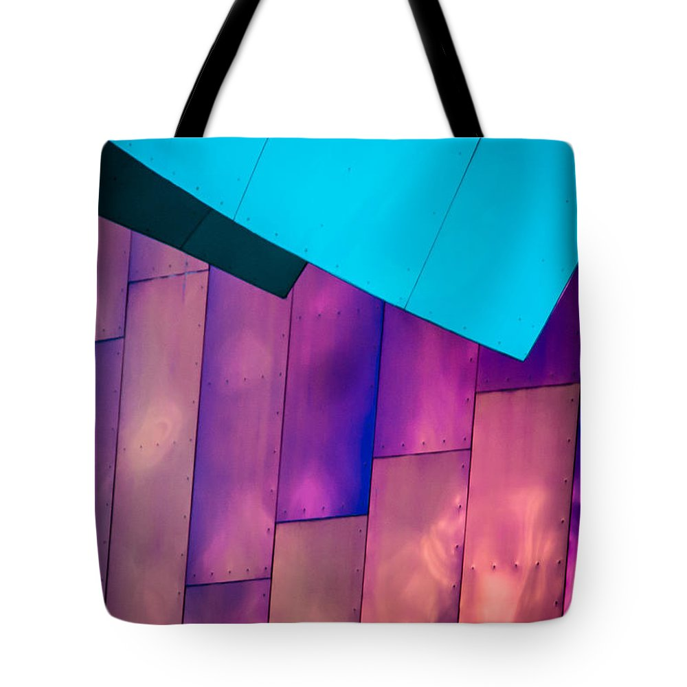 2008 Tote Bag featuring the photograph Purple Panels by Melinda Ledsome
