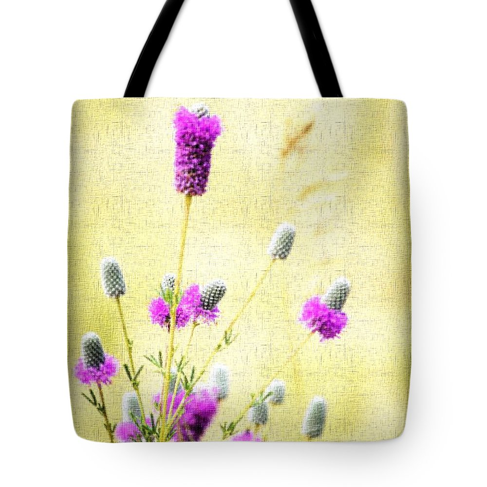 Flower Tote Bag featuring the photograph Purple Passion Texture by Bonfire Photography