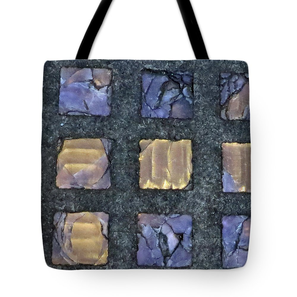 Purple Prism Glass Tote Bag featuring the photograph Purple Prism Glass In A Square by Elizabeth Rose