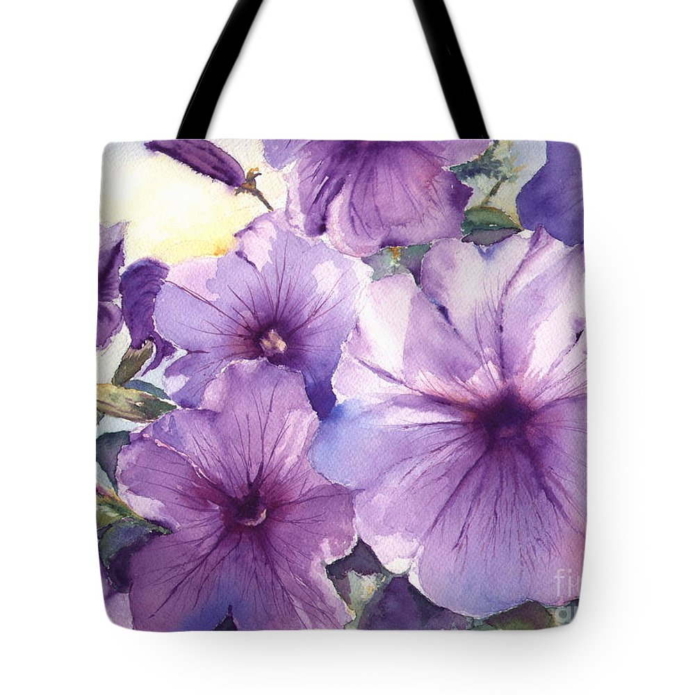 Purple Tote Bag featuring the painting Purple Profusion by Patricia Henderson