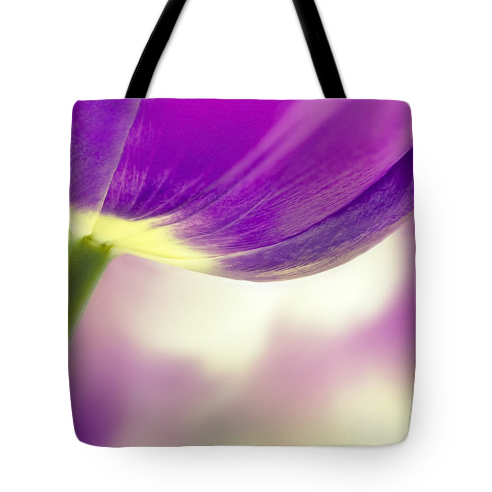 Purple Tulip Tote Bag featuring the photograph Purple Tulip by Onelia PGPhotography